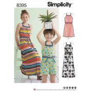 8395 Simplicity Pattern: Childs and Girls Dress and Jumpsuit